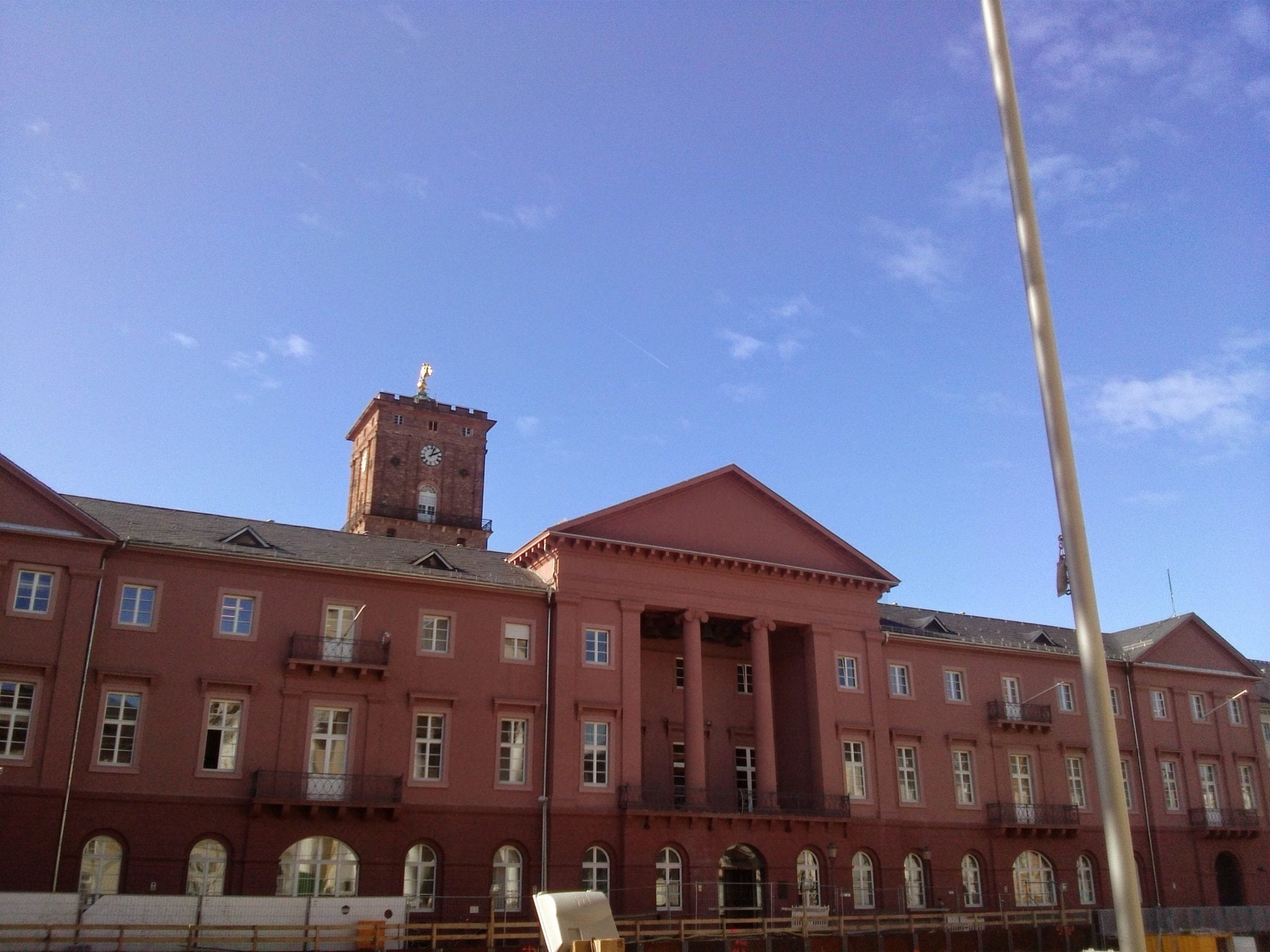 Karlsruher Rathaus mit Rathausturm