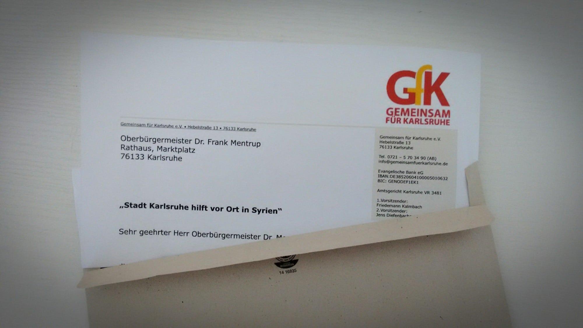 Offener Brief: Karlsruher Hilfe in Syrien? Eine Initiative.