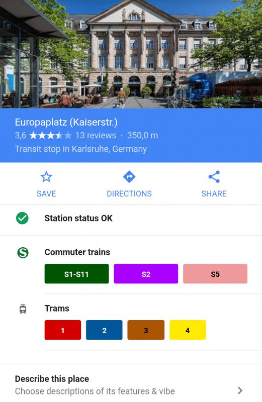 Screenshot von Google Maps