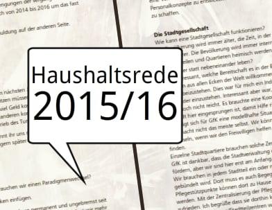 Haushaltsrede 2015/16