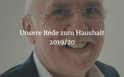 Haushaltsrede 2019/20 von Stadtrat Friedemann Kalmbach