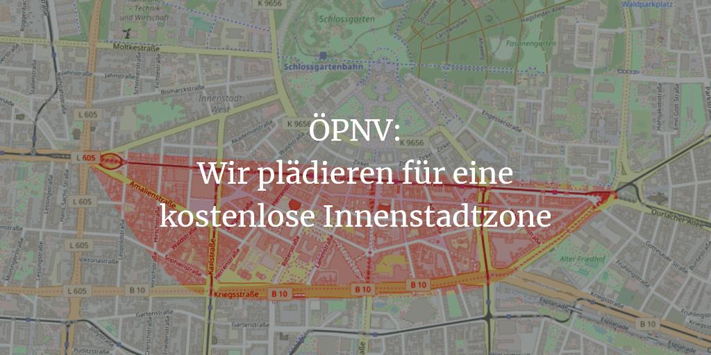 ÖPNV: Gemeinsam für Karlsruhe plädiert für eine kostenlose Innenstadtzone