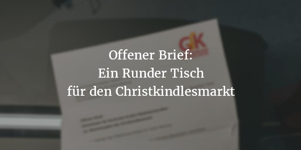 Offener Brief: Gemeinsam für Karlsruhe fordert Mediationstreffen  zur Standvergabe des Christkindlesmarkt