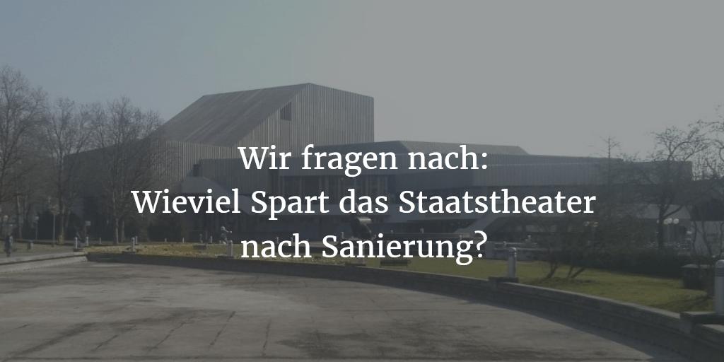 GfK fragt nach: Wieviel spart Badisches Staatstheater durch Sanierung?