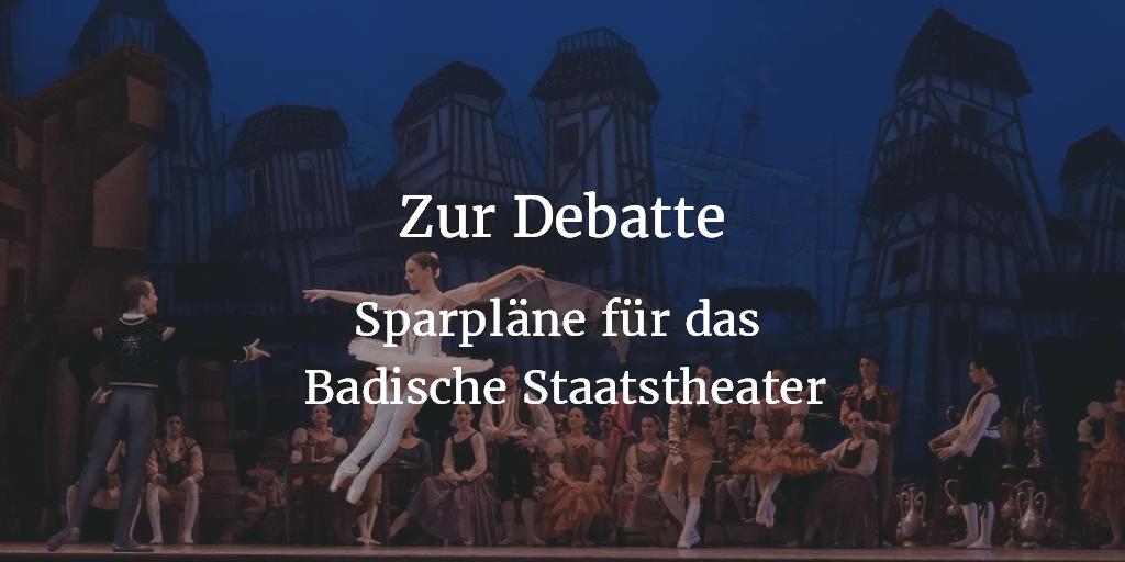 GfK für Versachlichung der Debatte um Sparpläne Staatstheater