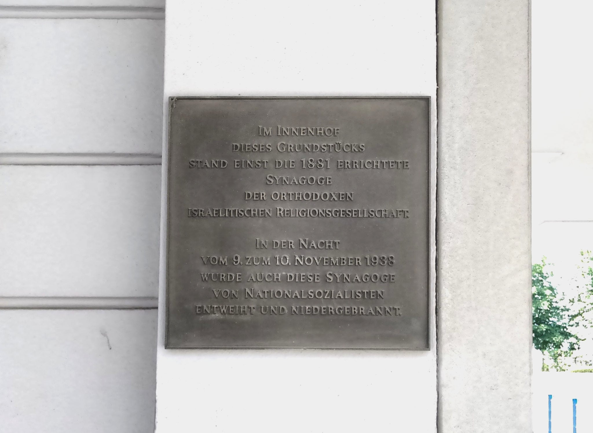 Gedenken an Jüdische Einrichtungen in Karlsruhe